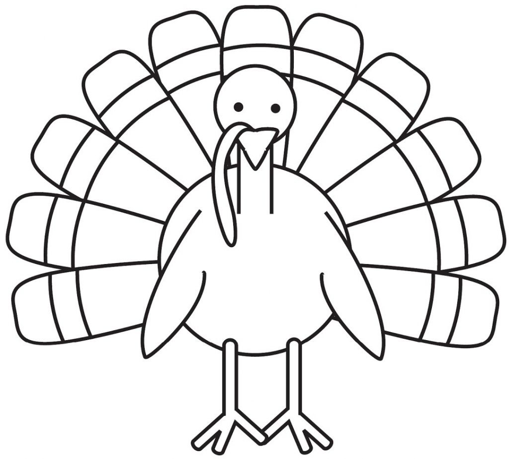 Turkey Coloring Pages For Preschoolers Photo