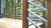 "Horizontal Railing - using 1.25"" conduit... Deck makeover ..."