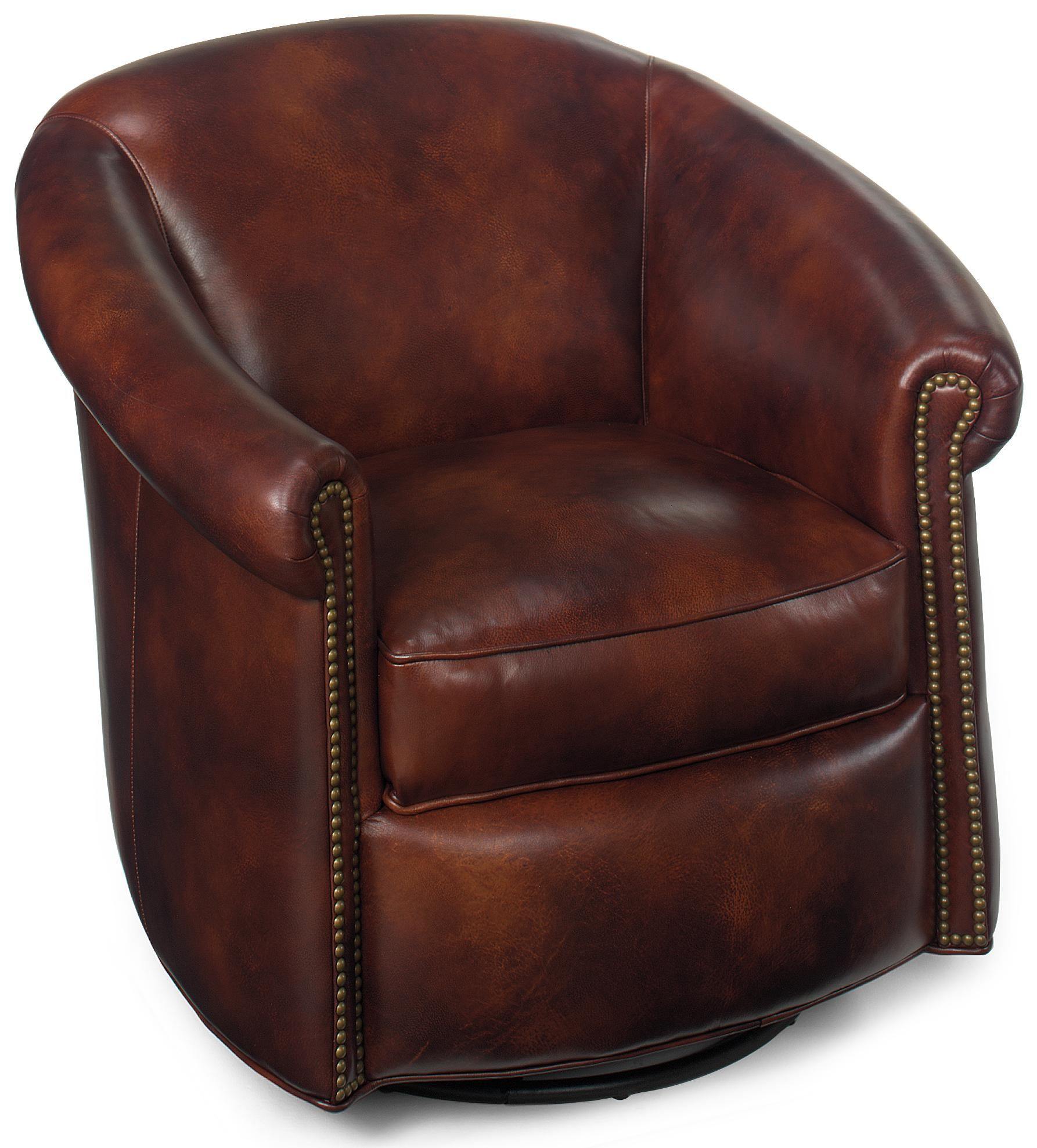 leather swivel barrel chair revolving nagpur tub chairs marietta glider by