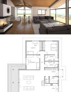 Small house plan with vaulted ceiling and three bedrooms modern to family also planta de casa floor planning pinterest living rooms rh