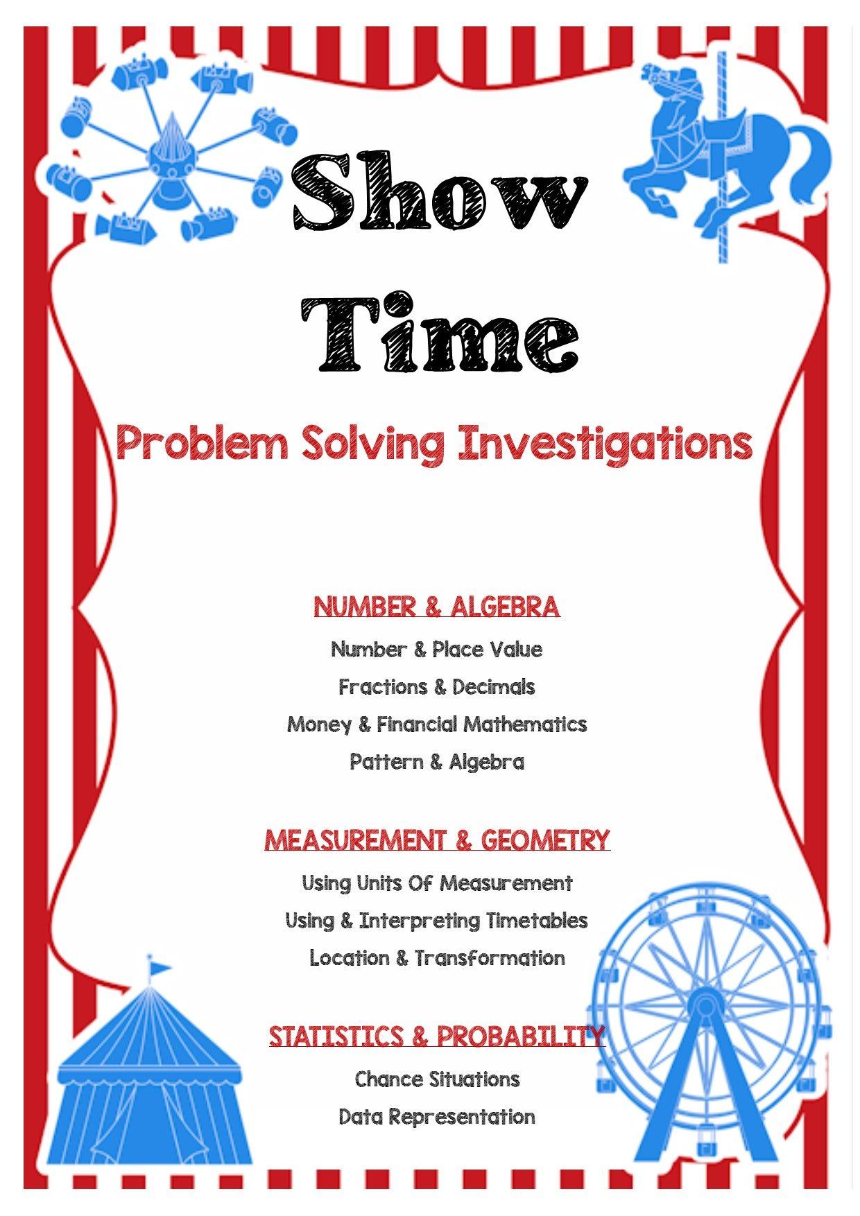 Show Time Carnival Problem Solving Investigations Number