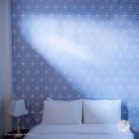 Shibori Japanese Wall Stencil | Wall decor, Stencils and ...