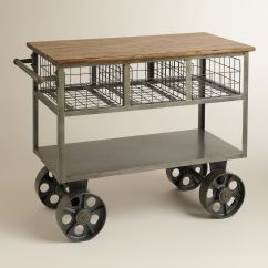Kitchen Carts On Wheels Cabinet With Sink Antique Gray Polished Iron Car Black
