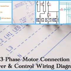 3 Phase Start Stop Switch Wiring Diagram Automotive Air Conditioning Three Motor Power And Control Diagrams