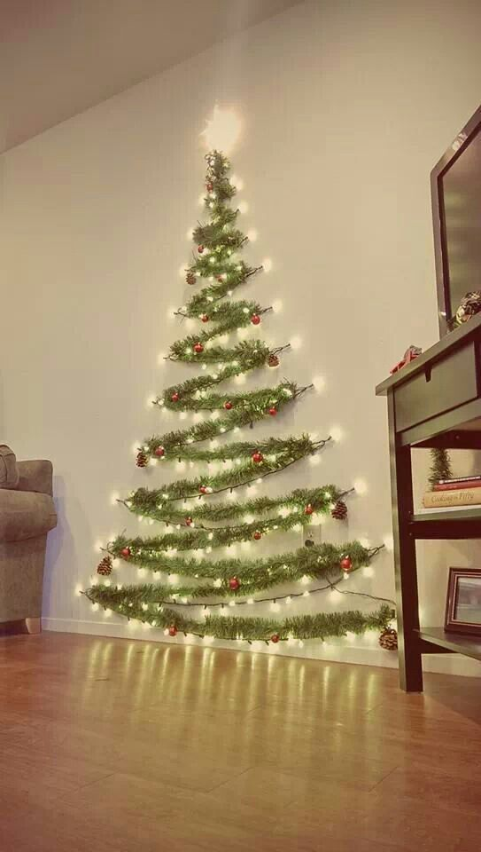 Image result for Wall-Mounted Garland Tree