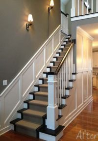 I love the wainscoting going up the stairs!   wainscoting ...