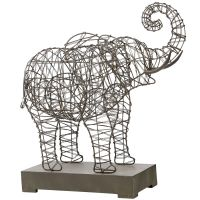 Woven Wire Elephant Sculpture   *Artwork > Sculptures ...