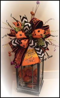 Halloween Lantern Swag, Halloween Wreath accent bow, Candy ...
