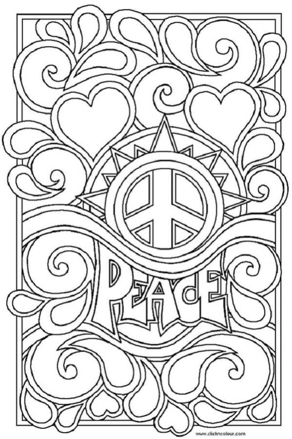 Peace And Love Coloring Pages Coloring Pages For Kids