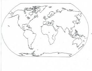 Blank and Filled-In Maps of the Continents and Oceans