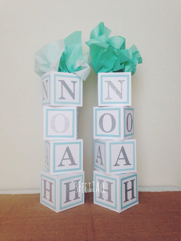 Baby Shower Centerpiece Alphabet Block Centerpiece By