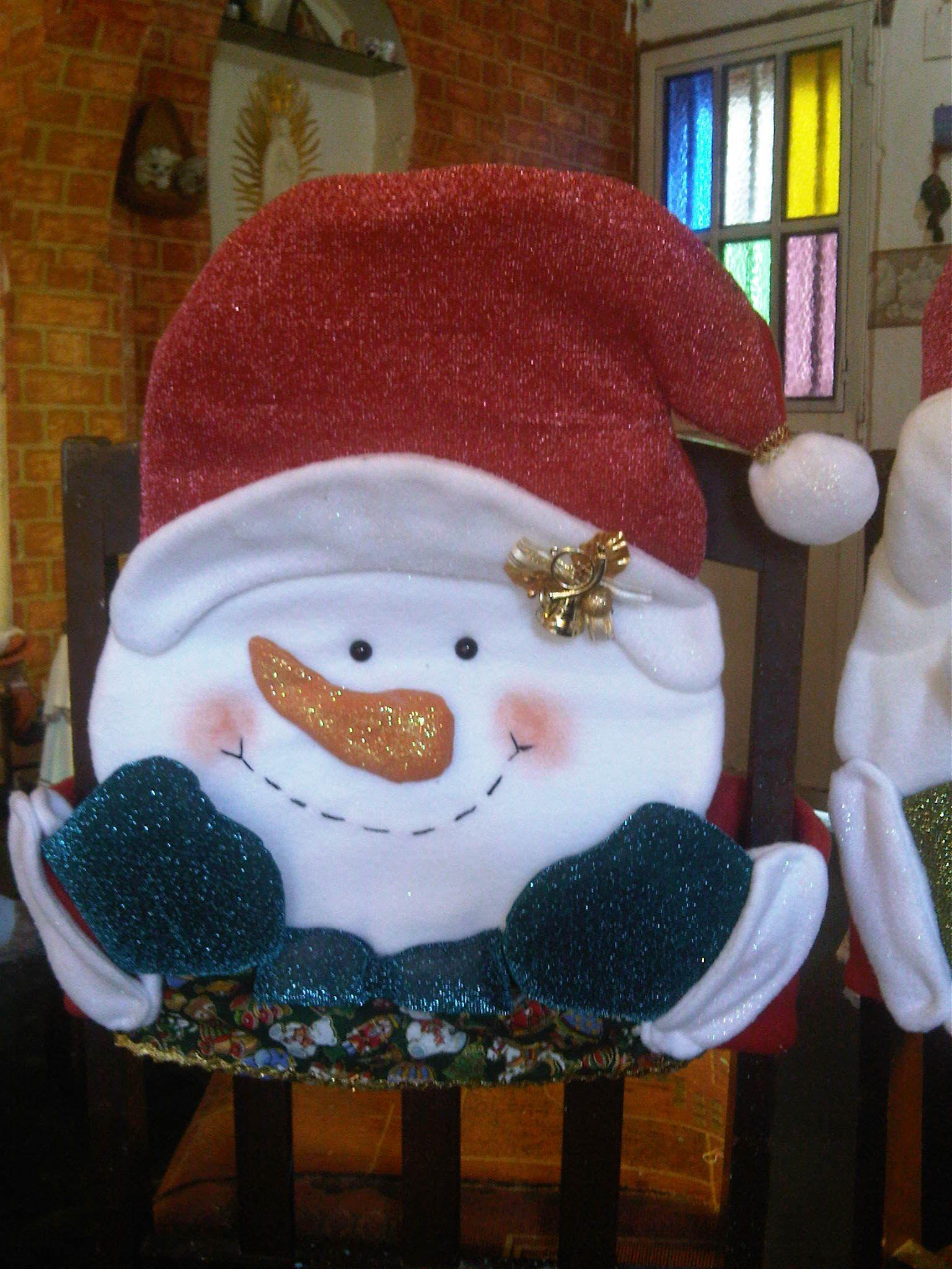 christmas chair covers pinterest wedding cover hire buckinghamshire forro de sillas nieve navidad