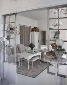 salvaged windows create partitions between the rooms what creative way to separate also rh pinterest