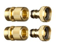 GORILLA EASY CONNECT 3/4 NPT Brass Quick Connect Garden ...