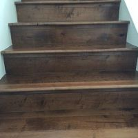 porcelain wood tile stairs