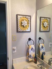 Gray & Yellow bathroom | Bath redesign | Pinterest | Grey ...