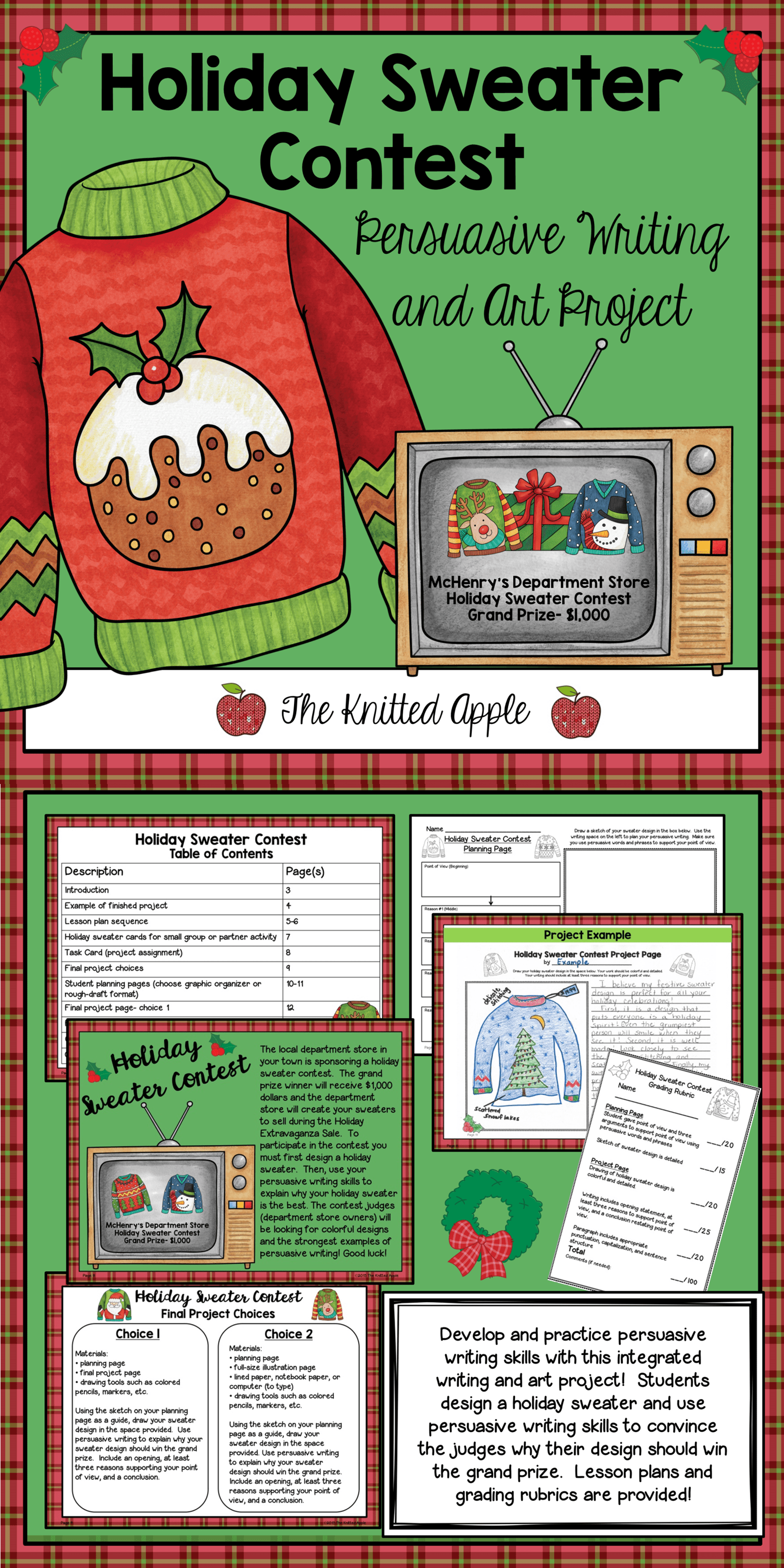 Persuasive Writing Project Holiday Theme