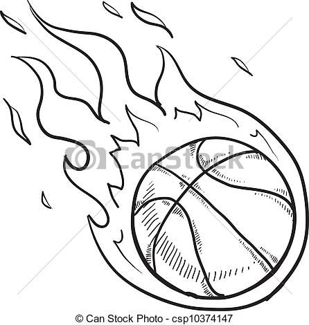 How to draw a basketball hoop net