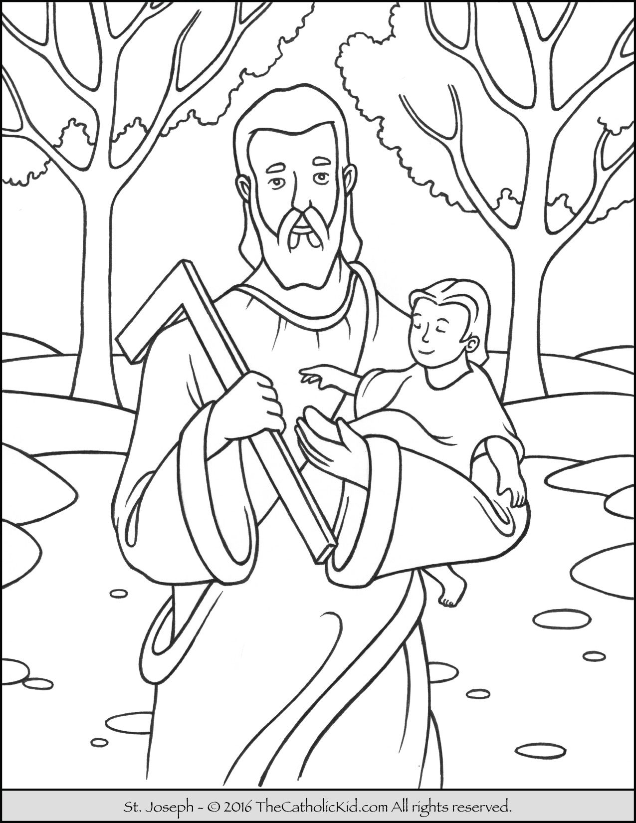 Feast Of St Joseph Coloring Page