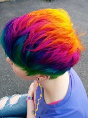 rainbow hair rainbows red blue
