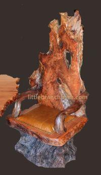 Redwood burl rustic chair   Burl Wood Furniture ...