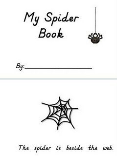 Super cute!! Positional word practice with spider rings
