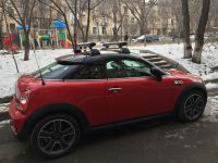 Mini Cooper S Coupe Roof Rack Snowboard #Mini #Coupe #
