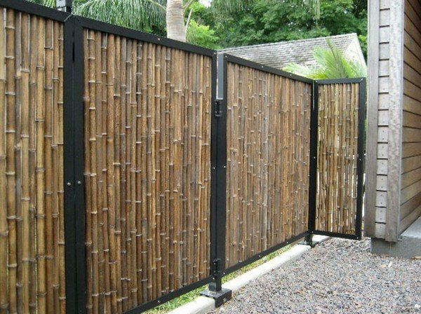 Classic Garden Fence Bamboo Wood Privacy Screens Garden Design