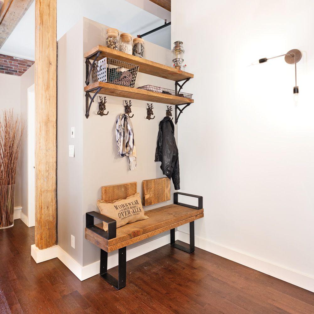 Simplicit rustique pour le hall dentre  Hall dentre  Inspirations  Dcoration et
