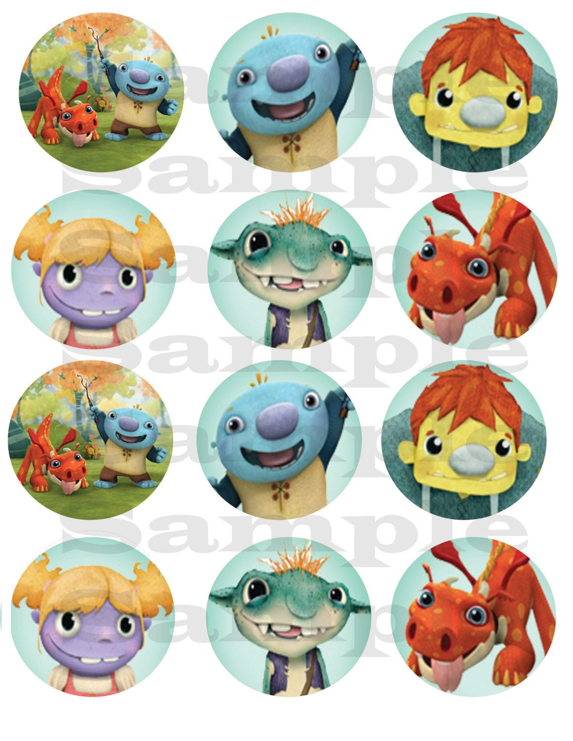 Wallykazam Printable Cupcake Toppers And Wrappers