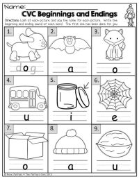 CVC Words- Beginning and Ending sounds!: | schoolwork ...