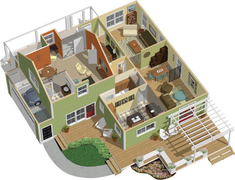 3d 2 Story Floor PlansAmazoncom Chief Architect Home Designer 90