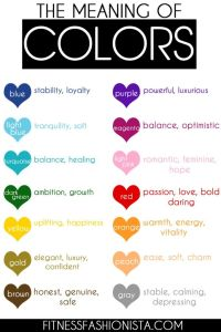 Have you ever wondered what colors meant. Now you can ...