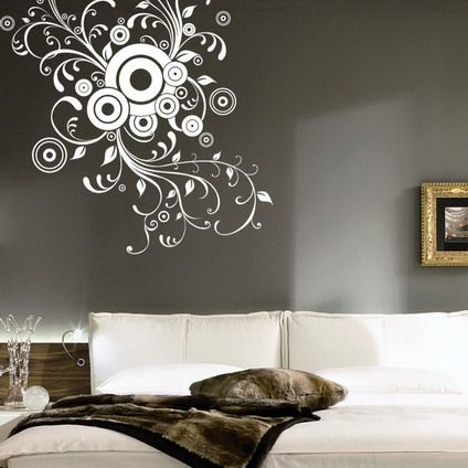 Artistic abstract wall stickers decals for living room decoration ideas also magenta modern art decal in  rh pinterest