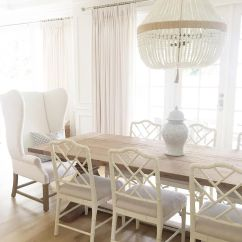 Ballard Designs Upholstered Dining Chairs White Tufted Design Dayna Ro Sham Beaux Restoration