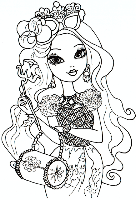 LOTS of Free Printable Ever After High Coloring Pages