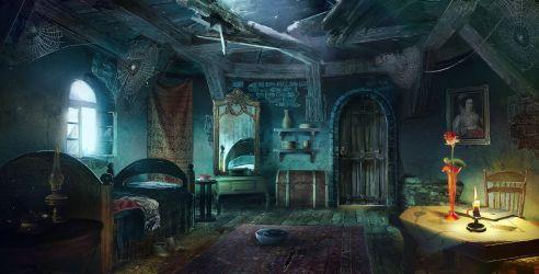 room deviantart maids fantasy anime abandoned bedroom background interior king night digital castle mansion scenery magic deviant escape landscapes visit