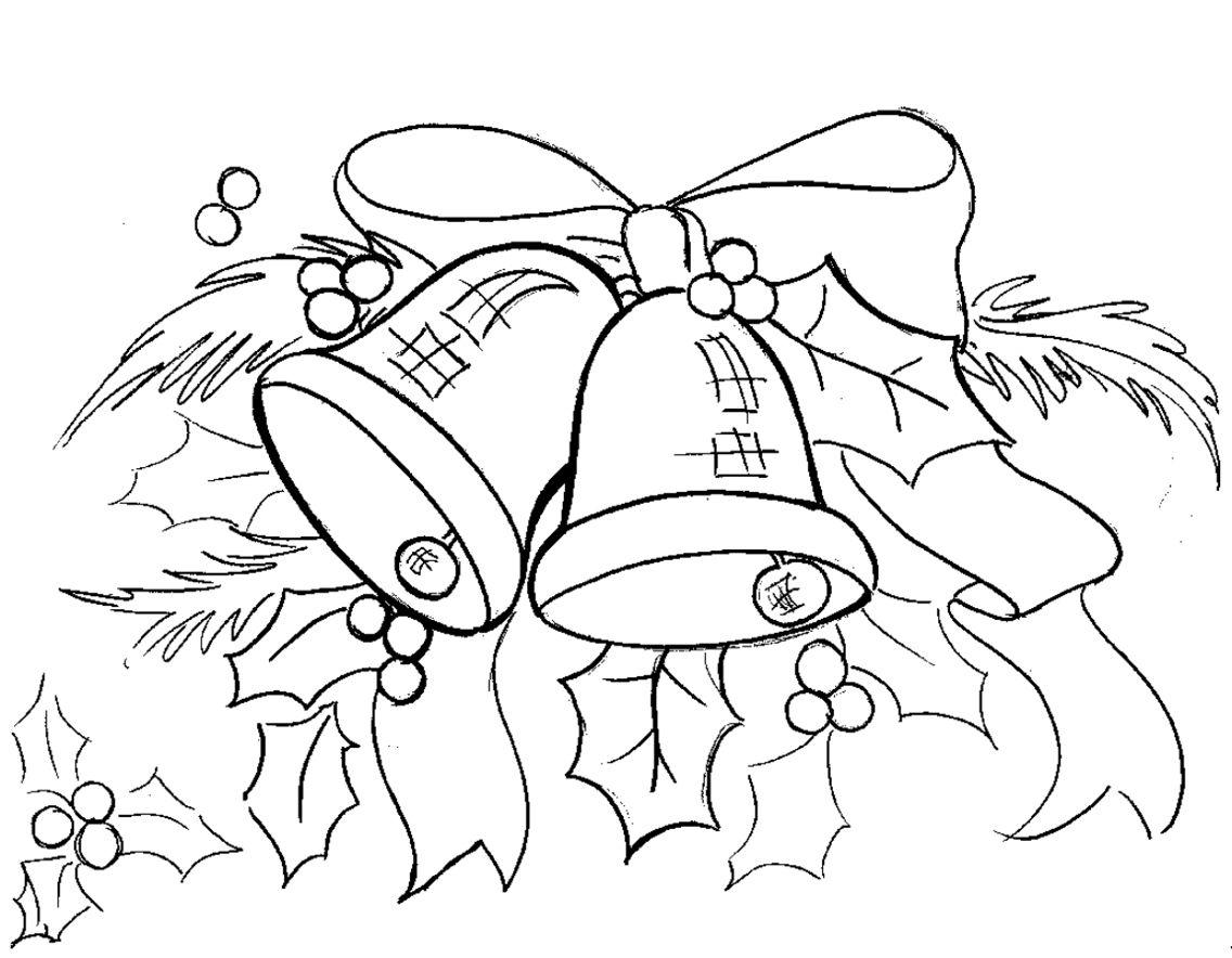 Christmas Bells Printout Free Coloring Printouts Pinterest