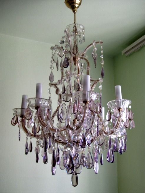 Custom Made Large Chandeliers Colored