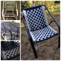 Macrame lawn chair.  | Pinteres