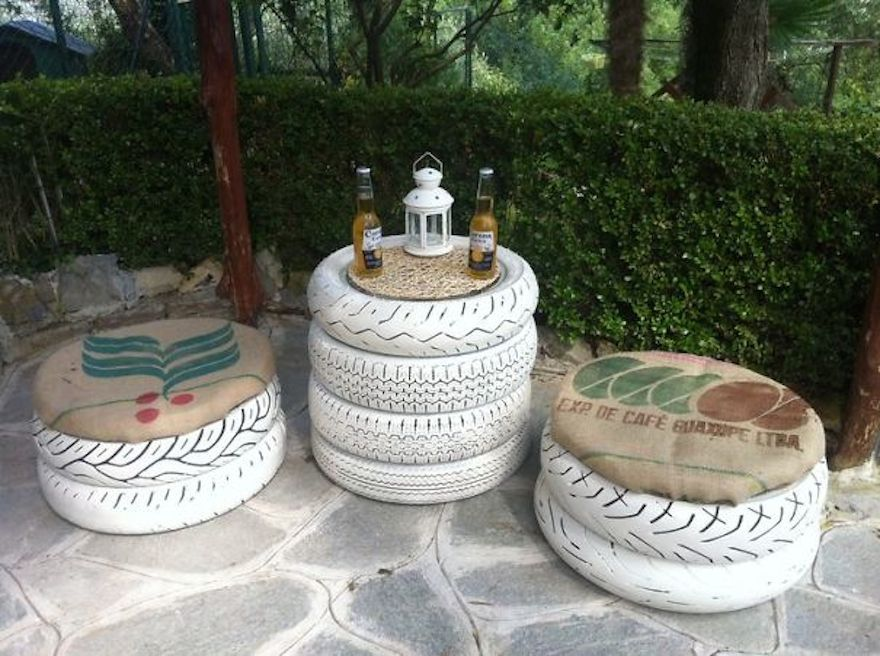 Upcycled Tires Recycling Ideas Interior Design 32 605 Craftable