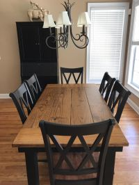 This 6 x 37 Farmhouse Table in Early American stain on ...