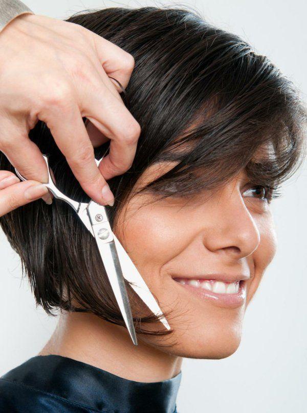 Schneiden Sie Ihre Haare Stufig Frisuren Pinterest