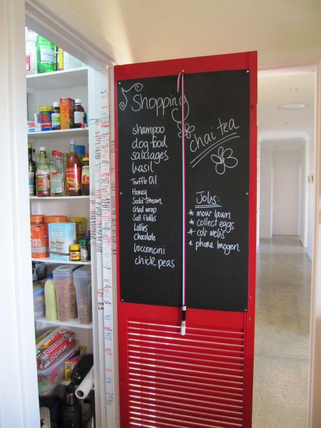 Design ideas for kitchen pantry doors chalkboard pens