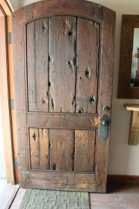 Rustic Front Doors on Pinterest