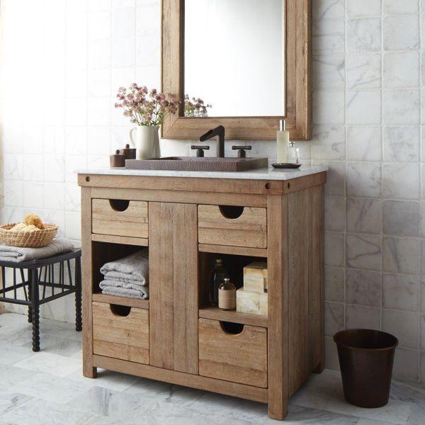 Reclaimed Wood Bath Vanities - Native Trails Chardonnay