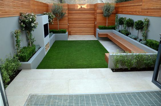 Contemporary #backyard Design With #artificial Grass Free
