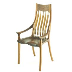 Rocking Chair Fine Woodworking Thomasville Dining Chairs Discontinued Sam Maloof Style Sculpted Features Bent