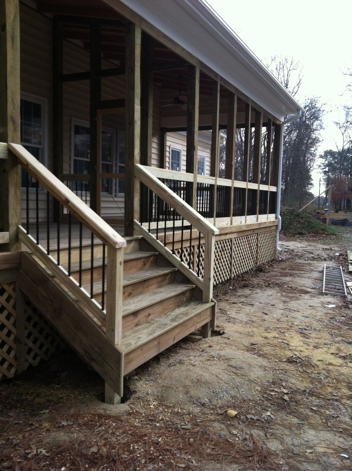 Back Porch Stairs