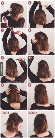 Trendige Frisur Für Mittellanges Haar Du Hast Die Haare Schön